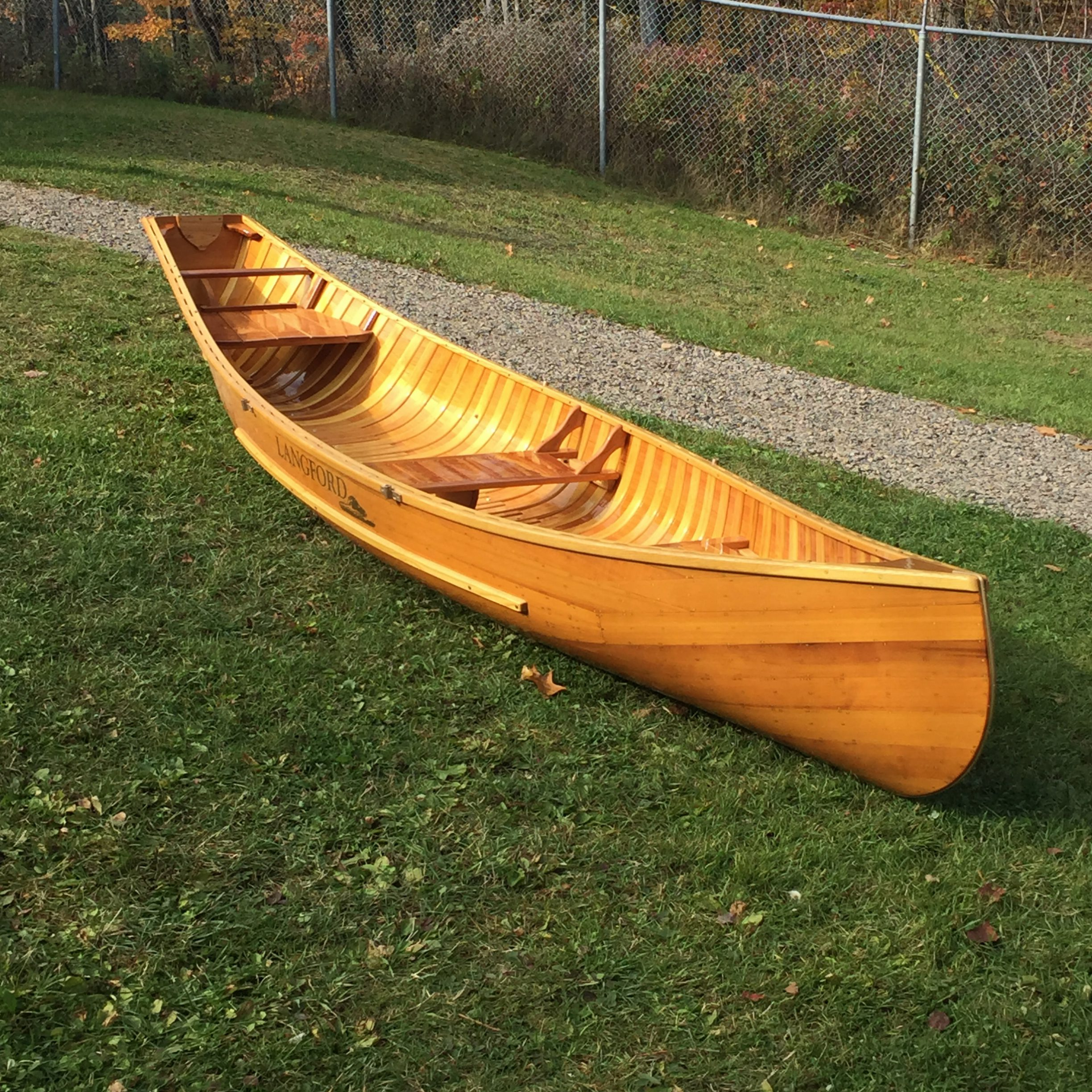 Classic Wood - Langford Canoe - Let the Journey Begin