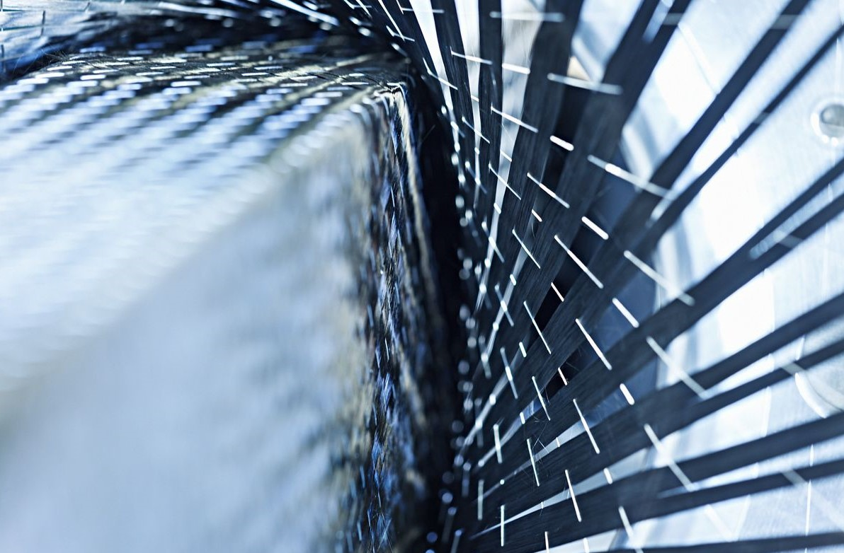 Carbon Gunwale Weaving