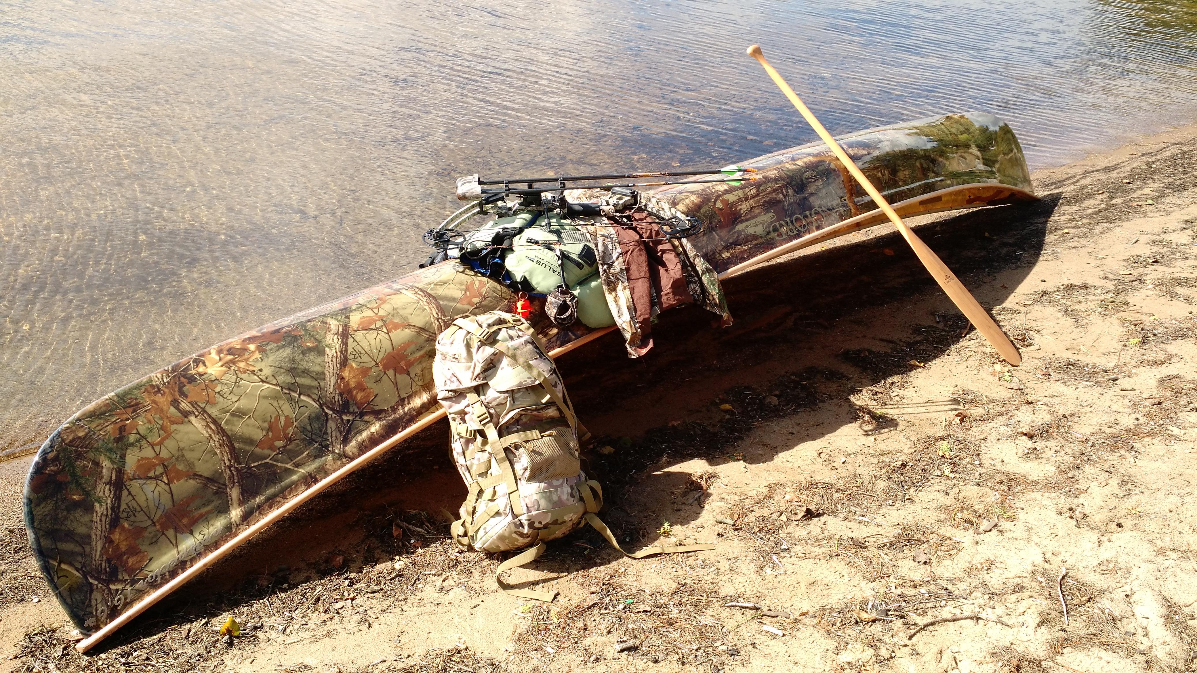 Langford Canoe Kevlar Camo Prospector 16.6