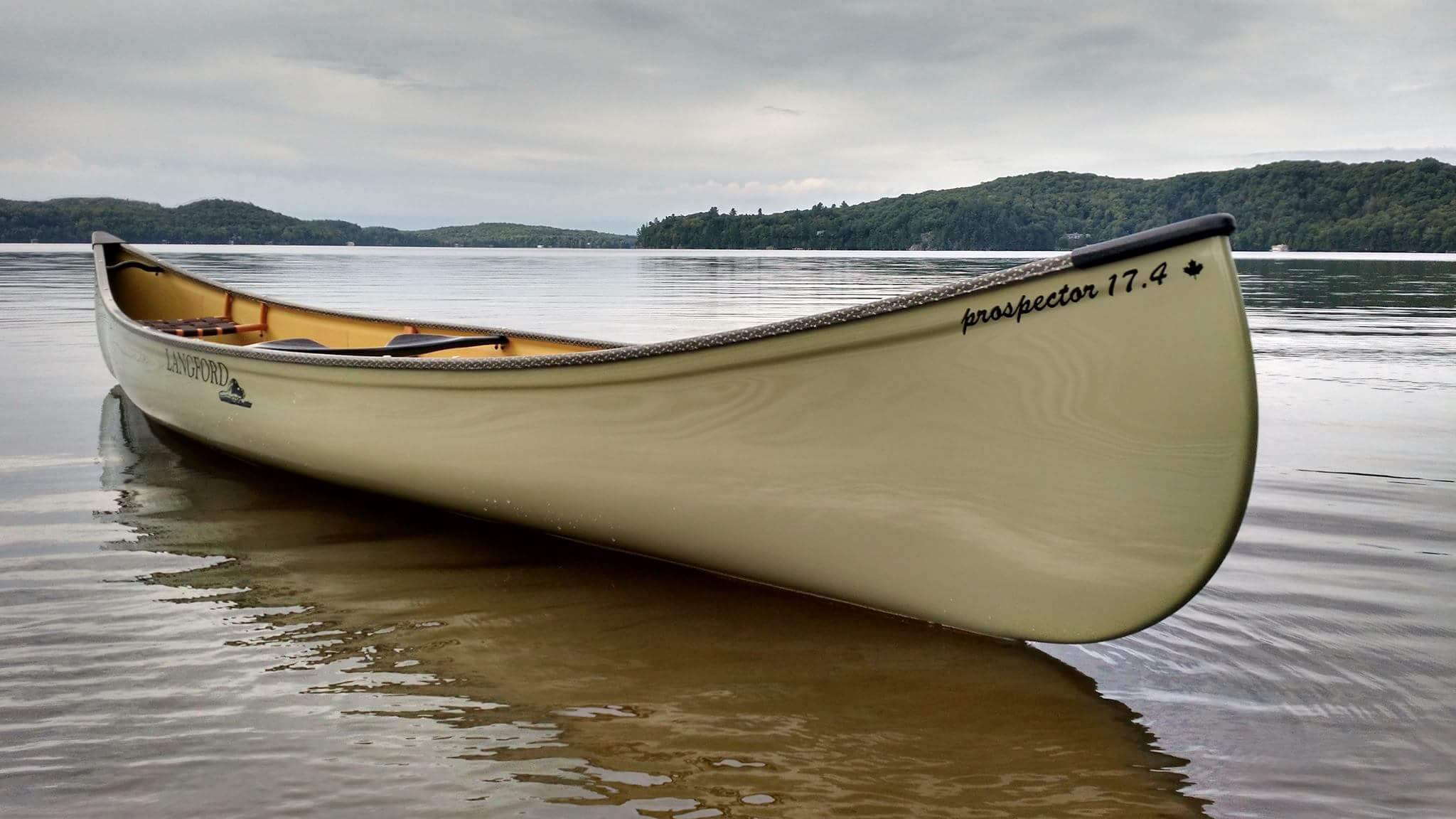 Langford Canoe Olive Drab Prospector 17.4